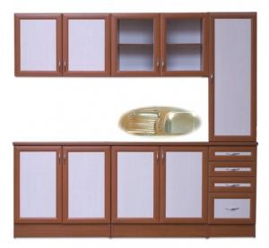 225-ös kamraszekrényes MDF keretléces konyha